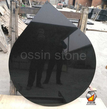 Black Granite Curved Hearth for stove and fireplaces panel