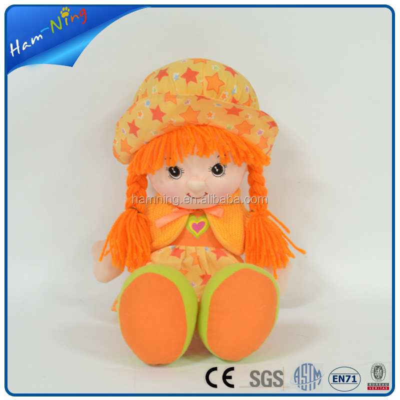 wholesale stuffed baby doll plush rag doll with clothes