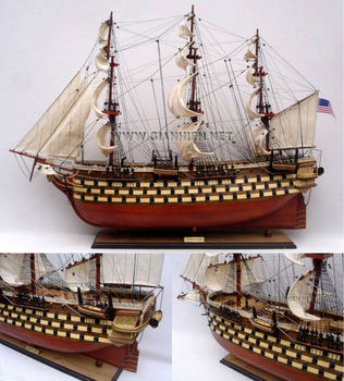 USS PENNSYLVANIA WOODEN TALL SHIP MODEL - HANDICRAFT OF VIETNAM