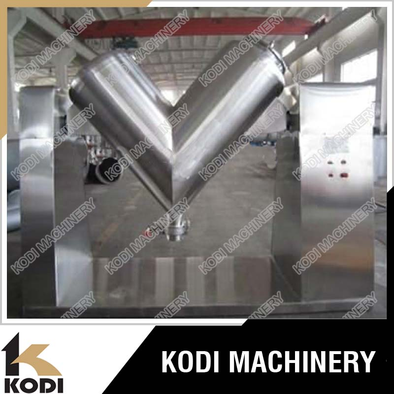 KODI Stainless Steel V Type Tumbler Detergent Powder Mixer Machine