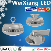 warehouse hanging led lights 200w Meanwell driver Hook type UFO low bay light 50w-200w