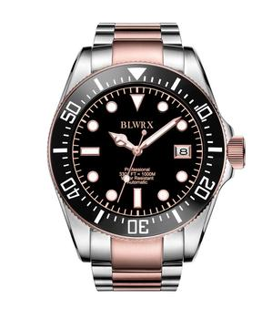 BLWRX 43mm 3300ft Diver Mechanical Watch Rotated Bezel Ceramic Bezel Insert