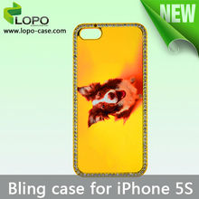 Bling Bling Rhinestone Case Sublimation cover for iPhone5