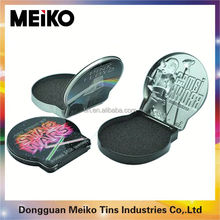small metal hinged lid tin box