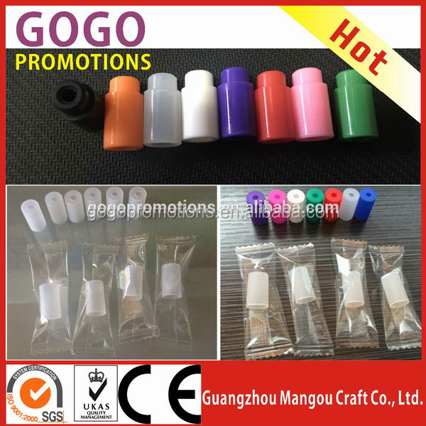 Newest individual packed colorful atomizer cover Best Ecigs Silicone Test Tips e cig Cover,soft tip disposable healthy drip tip