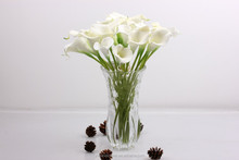 High-grade PU simulation plants flowers artificial flowers wholesale wedding hotel simulation mini callas beam