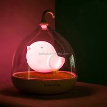 4 Color ABS+PC Innovative Kids Sleeping Night Light Touch Sense Control Bird Cage LED Light