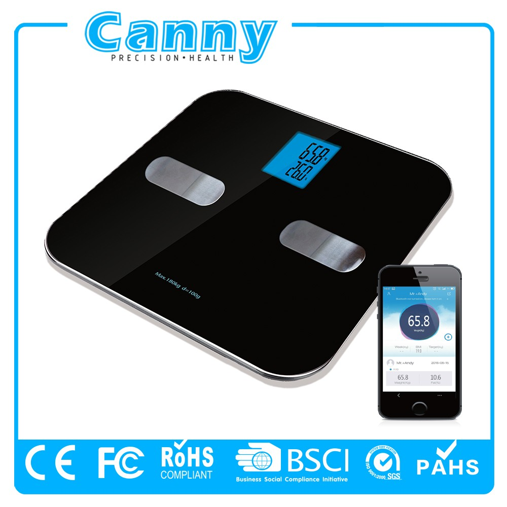 2017 latest popular design hot selling iOS and Android mobile connected app bluetooth scale
