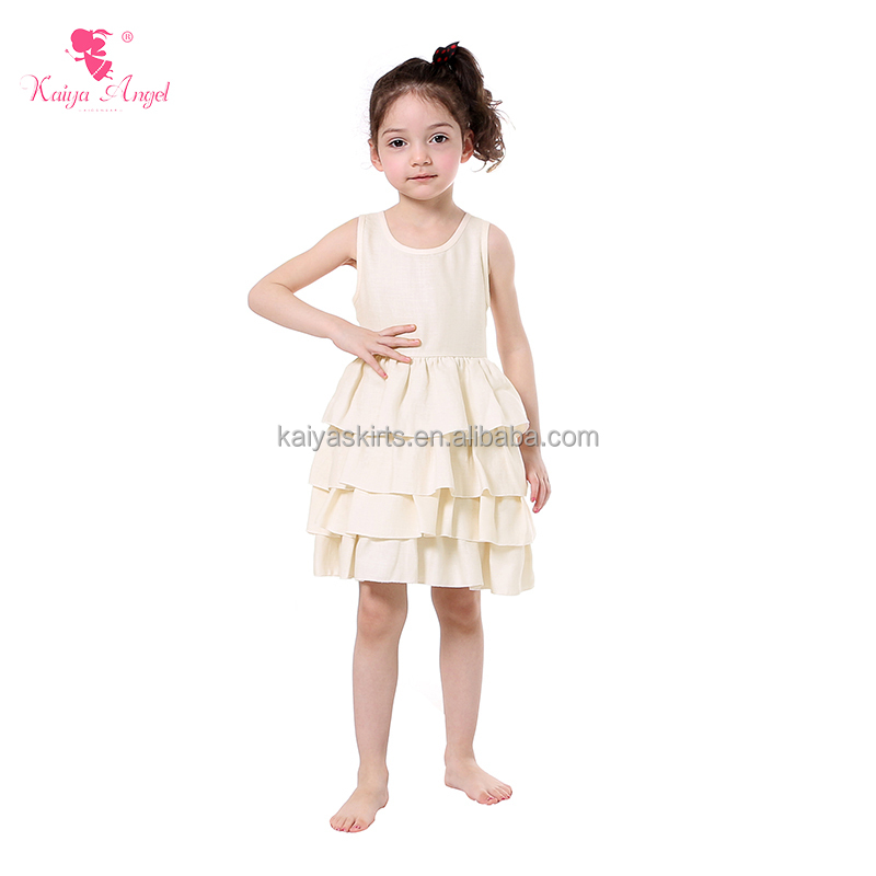 boutique baby frock designs 2017 plain girls cotton ruffle dresses