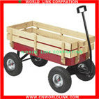 Folding Wagon With Rubber Wheels Children Wooden Toy Wagons