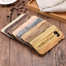 New Handmade Natural Wood Hard PC Wooden Back Case Cover for iPhone 5SE 6S 7plus, 2017 popular bamboo case for Samsung S6 S7edge