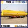 widely used 3 axle 60cbm oil tanker fuel tank semi trailer for sale