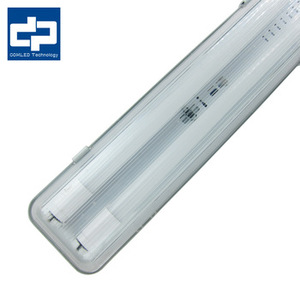 600mm 1200mm double tube led batten light fixture with RHOS battery pack