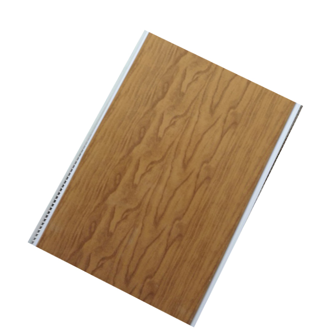 hot stamping foil wood color pvc panel de parede pvc and <strong>thickness</strong> 10mm