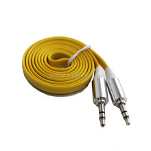 China Manufacturer Flat audio cable 3.5mm Jack to Jack