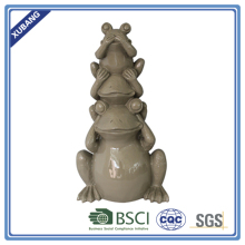 promotion poly resin 3 frogs pyramidFigurine