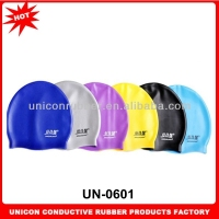 Factory direct sport national swimming caps 100% Eco-friendly silicone swimming caps with customized logo printed UN-0601