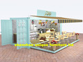 Newest high quality container ice cream and coffee outdoor kiosk design
