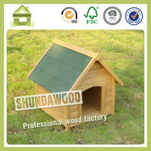 SDD04 Hot Sale Peaked Roof Customized Wooden Dog Kennel