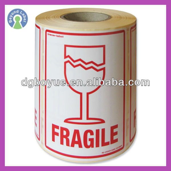 Shipping packaging adhesive paper parcel labels fragile