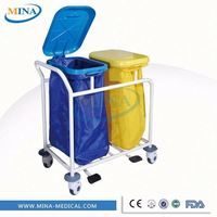 MINA-LT02 high quality high strength convenient classic hot-sell CE approved Soiled linen trolley with plastic bucket