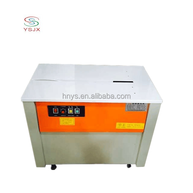 PP high table carton box strapping machine price