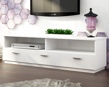 High gloss PU paint Modern style TV stand for living room