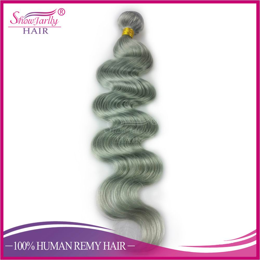 Alibaba china supplier top grade gray human hair weave loose body wave silver grey ombre hair extensions