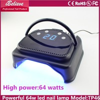 LED Nail Dryer 64W high powerful 220v led uv nail lamp for both hand and foot use