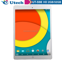 9.7 Inch HD Screen retina Android 5.0 Rk 3288 quad core Tablet 2G/32 G2 Cameras Tablet PC IPS HD Support 1080P