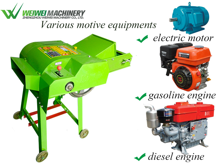 Weiwei1200kg capacity grinder feed silage root and field crops green forage chopper machine for sale