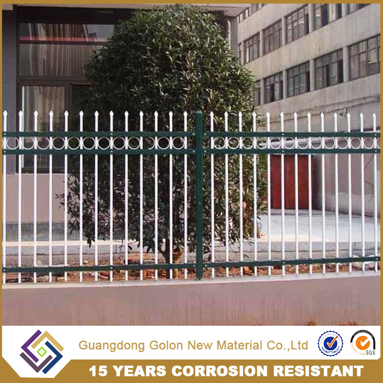 Competitive price wrought picket fence,boundary wrought irn fence