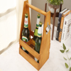 Handcrafted Wooden Beer Carrier / Holder / Tote. Wood Six Pack with metal opener