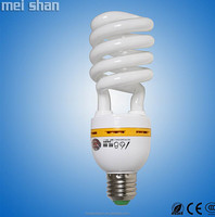 China 24w spiral diameter 9 glass lamp energy saving bulbs