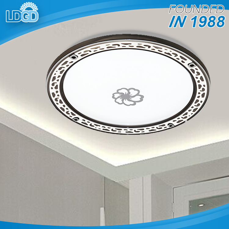 Black and White acrylic plastic cover 24w 2 years warranty round led bathroom ceiling heat lamp with factory cheap price