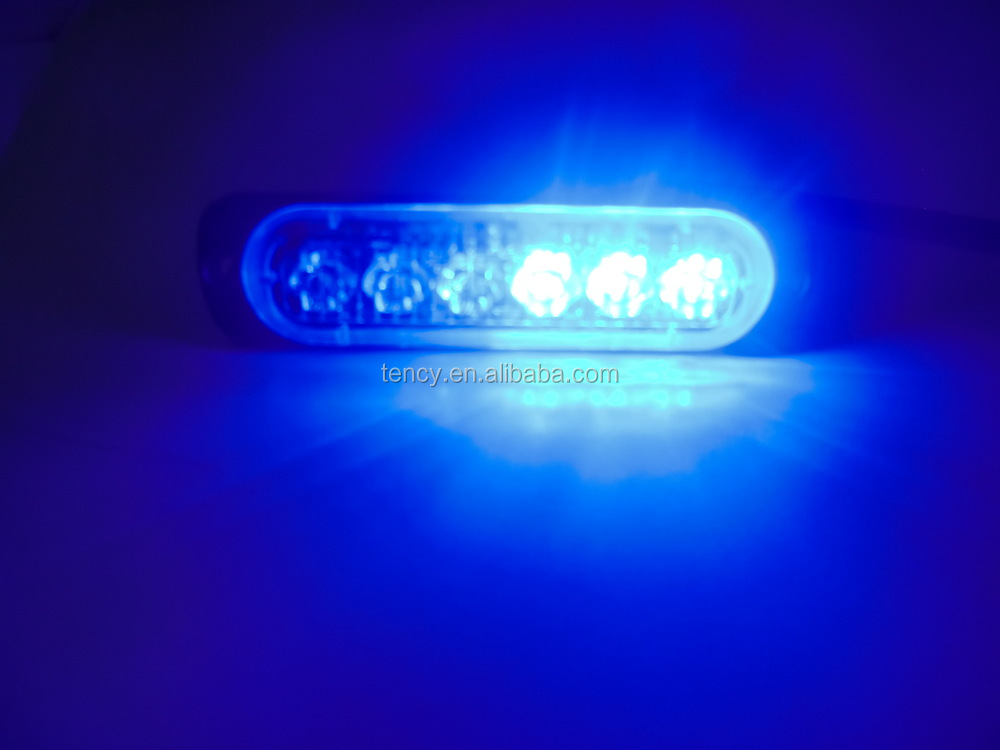 New Slimmest Super Bright LED Strobe Mini Light Pad (KF-LED-P6,Blue),180 Degree Light ,only 9.5mm thick,12V