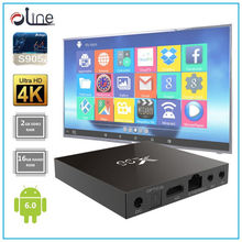 quad core cpu 2gb ram 16gb rom X96 set top box android 6.0 marshmallow tv box Ready made watch free tv box