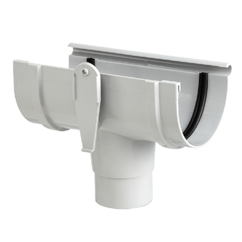 ERA KITEMARK CERTIFICATE 140MM PVC RAIN WATER GUTTER FITTINGS TEE