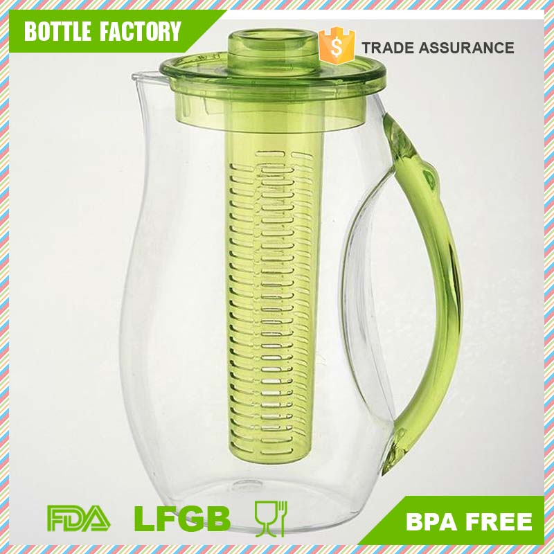 2.5L water filter jug plastic Fruit infusion Pitcher