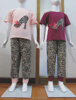 High heeel shoes design Children boutique clothing set