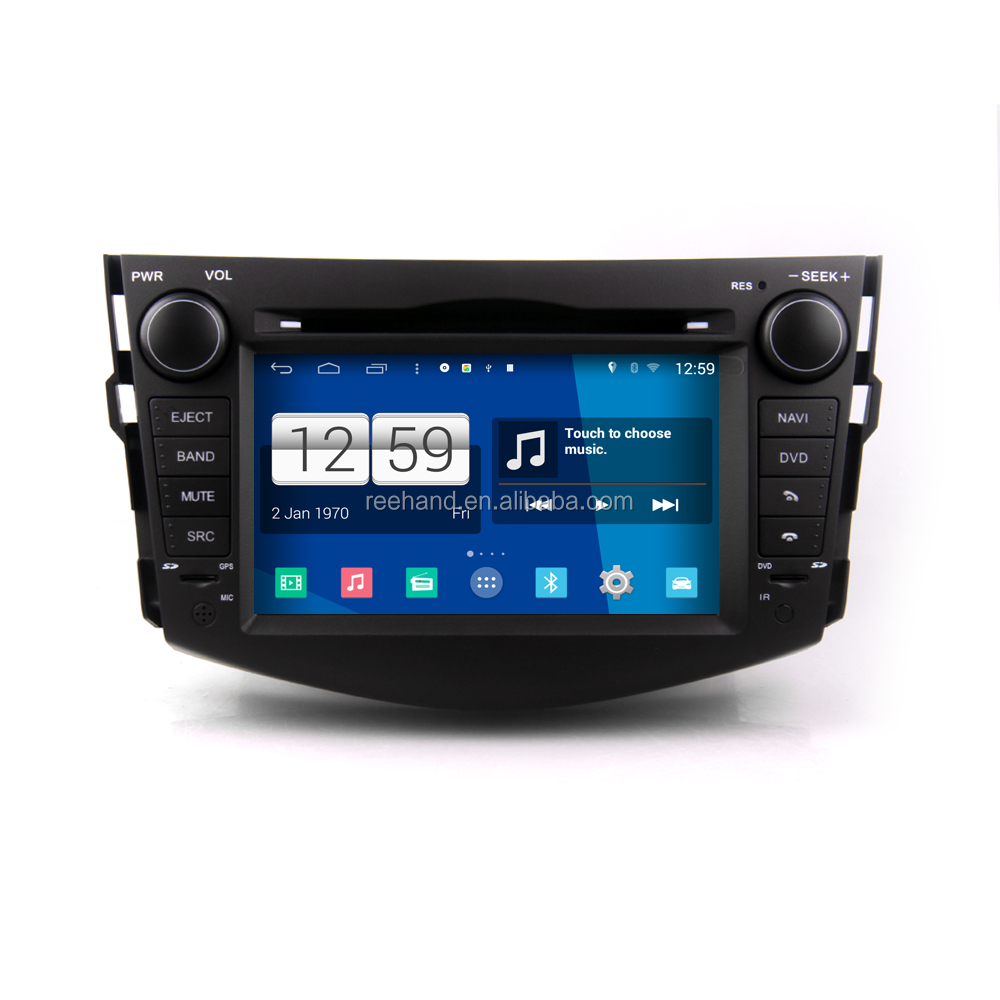 Android Car Stereo player For Toyota RAV4 with WIFI GPS navigation BT/FM/AM/SD/USB Capacitive screen car Car Accessories