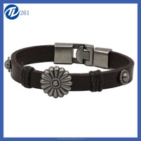 PU Leather Shinny Wristband Bracelet belts Slide letter /Charms YJ-BR0036