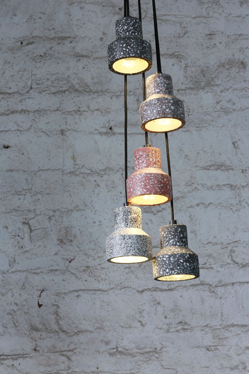Terrazzo TU Pendant lamp Chandelier Pendant Lights Loft Industrial Cement Chandelier Pendant Light with 1 LED Bulb Bulb Include
