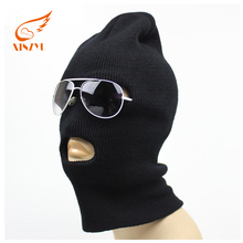 Custom Winter Ski Face Mask Military Knitted Acrylic Balaclava With 3 Holes