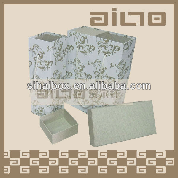 hot sale durable special fabric paper wine box packing