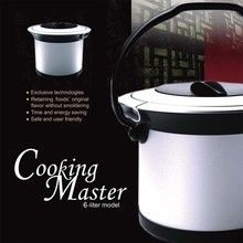 6L Stainless Steel Hot Pot Thermo Food Container Master Cooker
