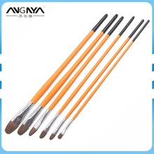 Wholesale ANY Company Paint Brush Natural Horse Hair Oval 6PCS Per Set Artist Oil Paint Brush