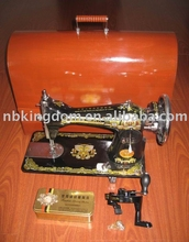 New Butterfly brand JA2-2 Household sewing machine with Metal handle & Wooden Case sewing machine