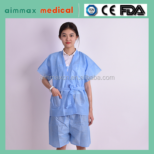 health care use sterile surgical gown SMS fabric/disposable isolation hospital dental gown sergeon apparel plastic surgical coat