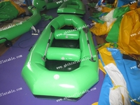 Inflatable boat, green outdoor funny boat
